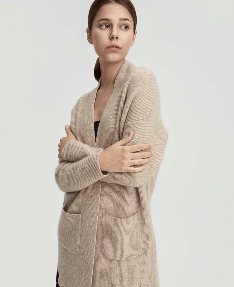 Nap Loungewear Open Front Pure Cashmere Cardigan