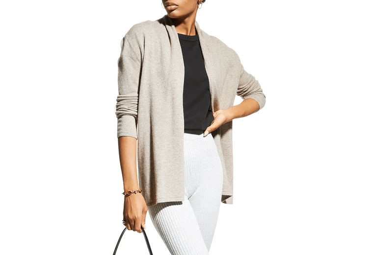 Neiman Marcus Cashmere Collection Cashmere Basic Open-Front Cardigan